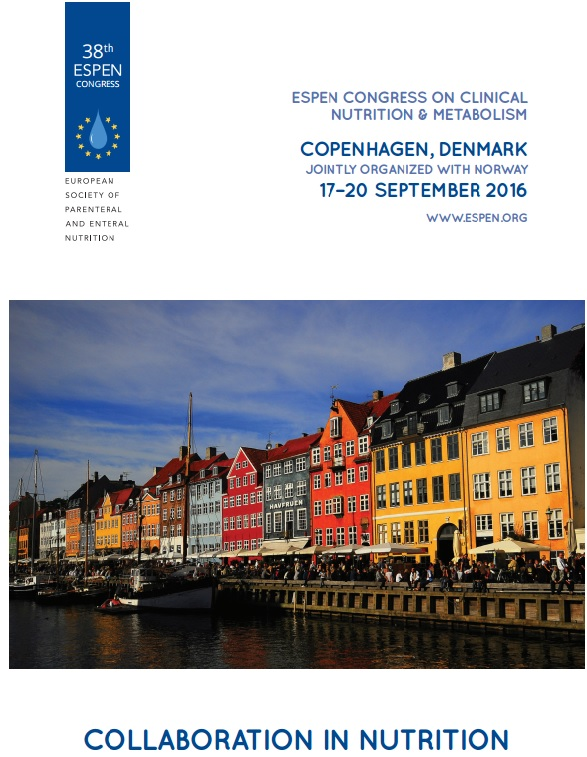 ESPEN Congress 17-20 September in Copenhagen, Denmark